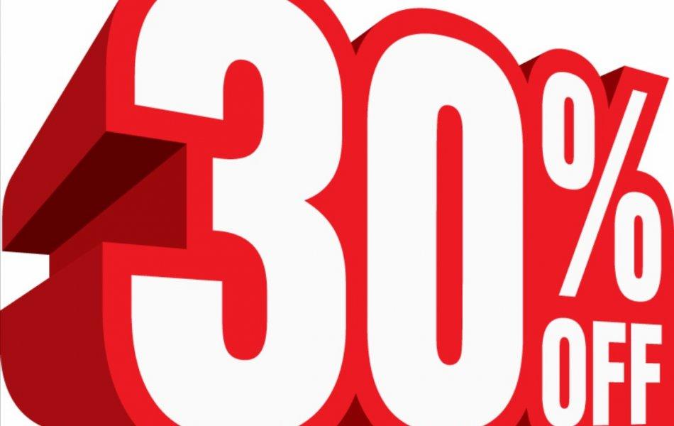 Sparen Sie bis zu 30%